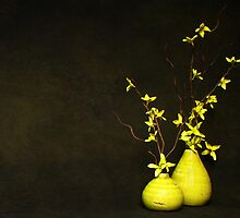 Yellow vases - Still life by Tracy Friesen