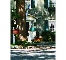 House With Turquoise Shutters Photographic Print