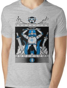Castle Crashers - Heraldry of the Blue Knight Mens V-Neck T-Shirt