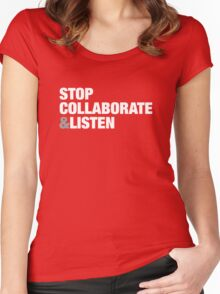Stop, Collaborate & Listen Women's Fitted Scoop T-Shirt