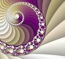 Abstract spiral fractal art by Marsea