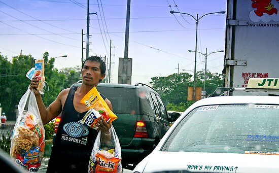 street vendor by lensbaby