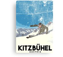 Ski Kitzbühel Austria (eroded) Canvas Print