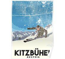 Ski Kitzbühel Austria (eroded) Poster
