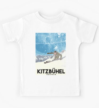 Ski Kitzbühel Austria (eroded) Kids Tee
