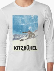 Ski Kitzbühel Austria (eroded) Long Sleeve T-Shirt