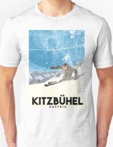 Ski Kitzbühel Austria (eroded) Unisex T-Shirt