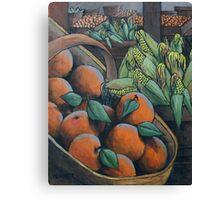 Peaches and Corn Canvas Print