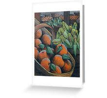 Peaches and Corn Greeting Card