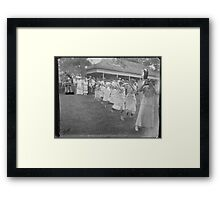 clothes line bots Framed Print