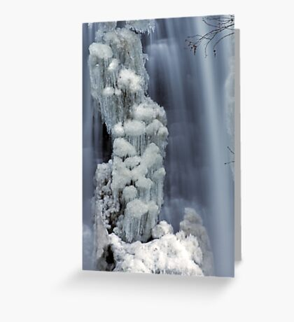 Moss Glen Falls, Stowe - Icy Column Greeting Card