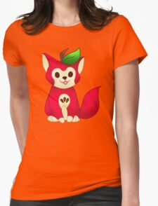 Fruit Cats: Apple Cat Womens Fitted T-Shirt