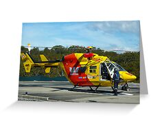 Westpac Rescue Helicopter, NSW Greeting Card