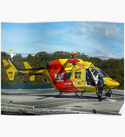 Westpac Rescue Helicopter, NSW Poster