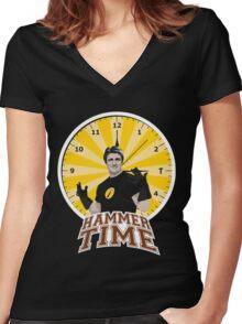 Hammer Time Women's Fitted V-Neck T-Shirt
