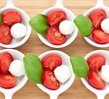 Six Caprese Appetizers by Charlotte Lake