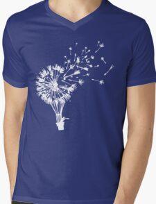 Last Man On Earth Dandelion Hot Air Balloon Tandelion Mens V-Neck T-Shirt
