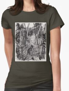 Entering the Woods Womens Fitted T-Shirt