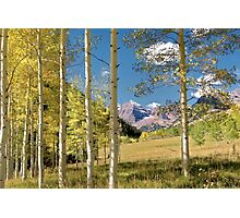 Maroon Bells from a distance Photographic Print