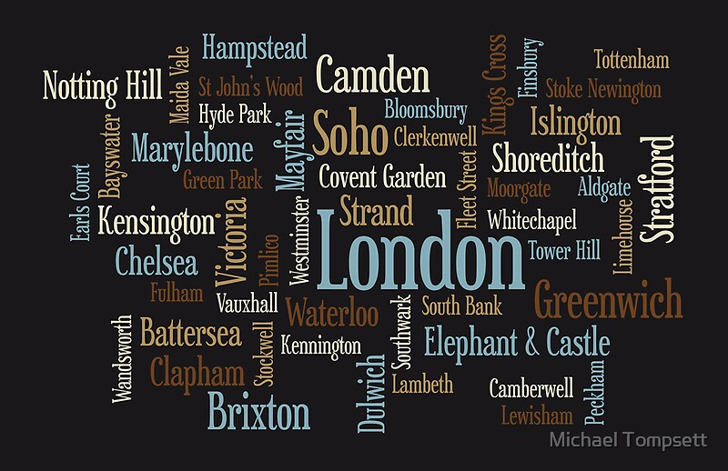 Calendar Typography Map : Quot london text typographic map by michael tompsett redbubble