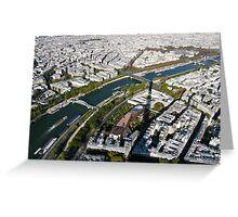 Paris in the air Greeting Card