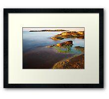 sunrise on the beauty wild coast Framed Print