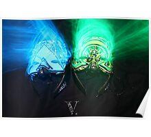 Alpha and Omega masks Poster
