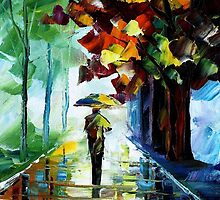 MORNING STROLL- original oil painting on canvas by Leonid Afremov by Leonid  Afremov
