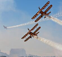Wingwalking the blue sky by Tony Roddam