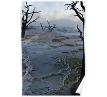 Mystery - Mammoth Hot Springs Poster