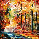 FALL ATTRACTION - original oil painting on canvas by Leonid Afremov by Leonid  Afremov