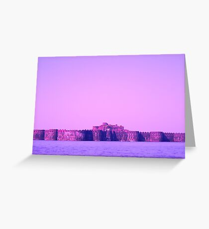 Fort Inside Sea Greeting Card