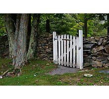 Cemetery Gate Photographic Print