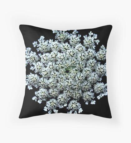 Summer Snowflake - Daucus carota Throw Pillow