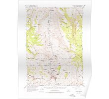 USGS Topo Map Oregon Picture Gorge 282786 1953 62500 Poster