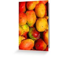 Mango - queen of the tropical fruits Greeting Card