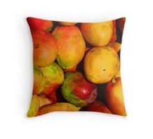 Mango - queen of the tropical fruits Throw Pillow