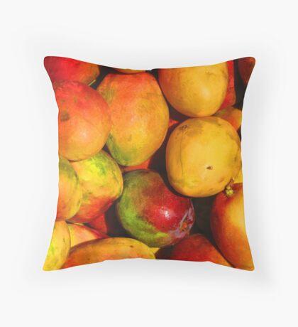 Mango - queen of the tropical fruits Throw Pillow