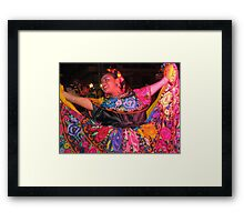 Young Mexican folklore dancer - joven bailarina Mexicana Framed Print
