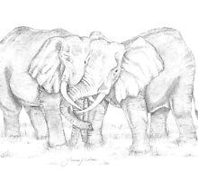 Happy Elephants by Lauren K Nelson