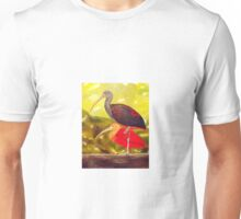 Black and red limpkin and red limpkin Unisex T-Shirt