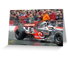 Jenson Button in Manchester Greeting Card