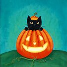 Peek a boo Pumpkin Cat by Ryan Conners