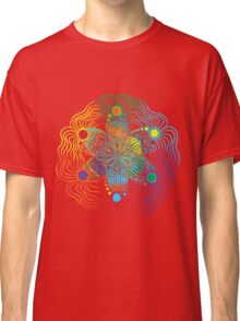 Black Background with 6 Color Design Classic T-Shirt