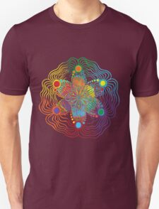 Black Background with 6 Color Design Unisex T-Shirt
