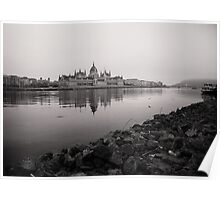 Parliament Budapest near Danube Poster