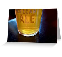 American Ale Greeting Card