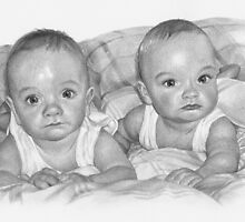 Portrait Commission (Twin boys) by Sami Thorpe