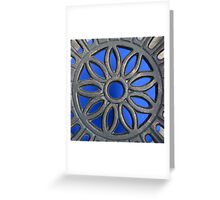 Decorative Blue and Grey Greeting Card