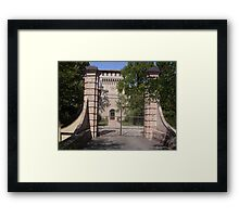 UN CANCELLO, UN'OROLOGIO, UNA TORRE...un castello parma ITALIA-EUROPA - 1700 VISUALIZZAZ MAGGIO 2013 - -VETRINA RB EXPLORE 10 GENNAIO 2013- Framed Print